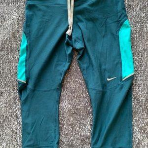 Nike Teal Running Capri's | Size S